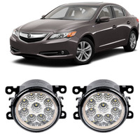Car Styling For Acura ILX 2013 2014 2015 2016 9 Pieces Led Fog Lights H11 H8