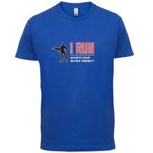 I RunnER Super Power Male - Mens T-Shirt - RunningER - RunnER  Marathon Name Print Free shipping Mens Short Sleeve Hot Tops цена 2017