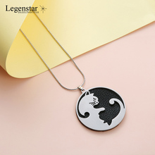 Legenstar Creative Cat Necklaces For Women Men Stainless Steel Mens Choker Jewelry Fashion Initial necklace 2019 collier femme