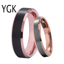 купить Classic Wedding Rings For Women Pure Tungsten Rings Men Men's Engagement Anniversary Ring lovers' Jewelry Party Rings Women Men дешево
