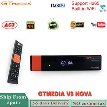 Gtmedia V8 Nova Satellite Receiver Support H.265 Europe 7 Clines Cccam For 1 Year Spain Built Wifi Standard DVB-S2 HD TV Box цена и фото