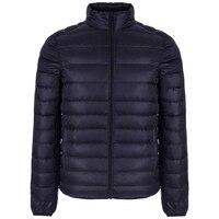 Autumn Winter Lightweight Thin 90% White Duck Down Jacket Men Casual Ultralight Male Feather Jackets Coat Ultra Light
