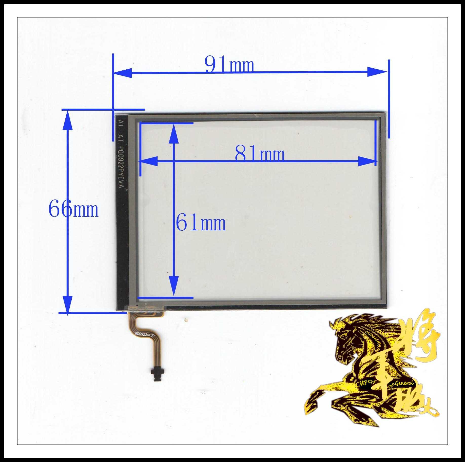 GENCTY For Four-wire resistance screen 91mm * 66mm W-Y
