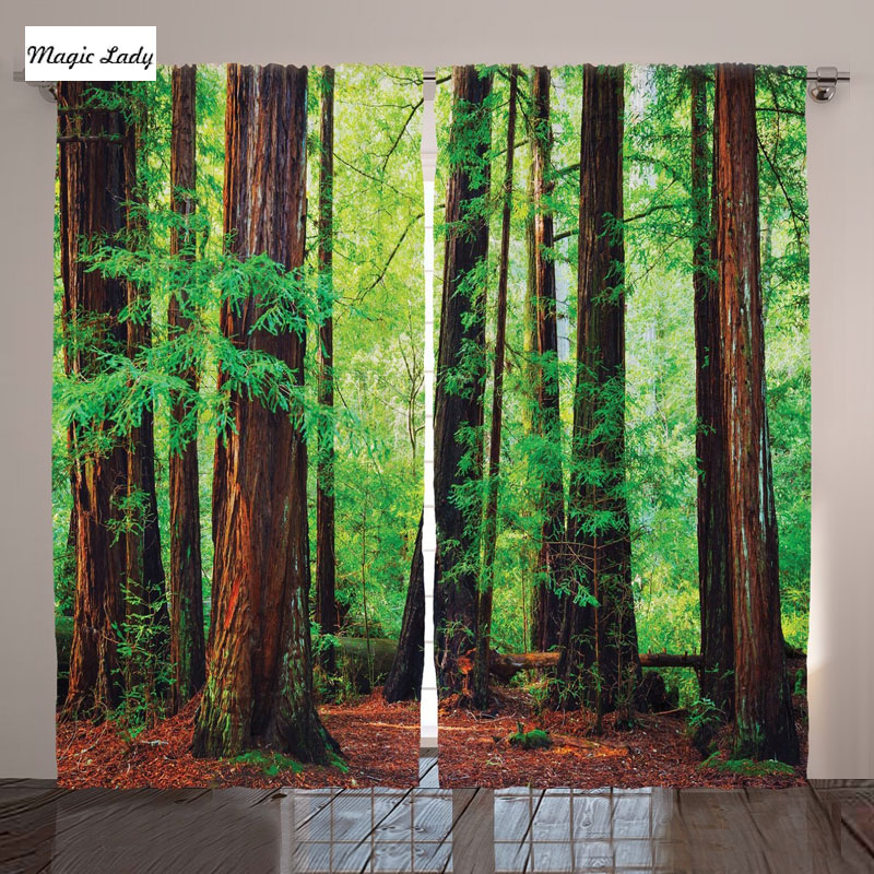 Woodland Decor Collection Redwood Trees Northwest Rain