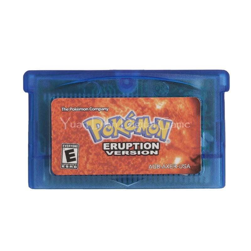 Nintendo GBA Video Game Cartridge Console Card Pokemon Series Eruption Version English Language Version
