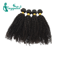 6A Grade Indian Kinky Curly Hair Extensions 4pieces lot Kinky Curly Virgin Human Hair Weaves Natural