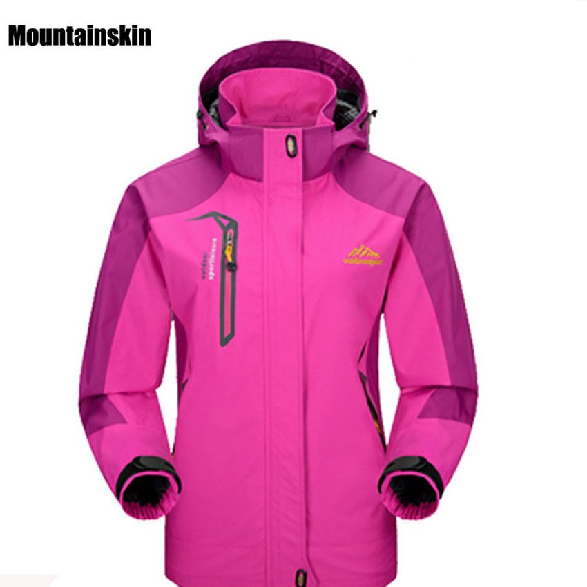 2018 Women Spring Autumn Outdoor Hiking Female Jacket Waterproof Windproof Coat Sports Camping Trekking Climbing Jackets VB002(China)