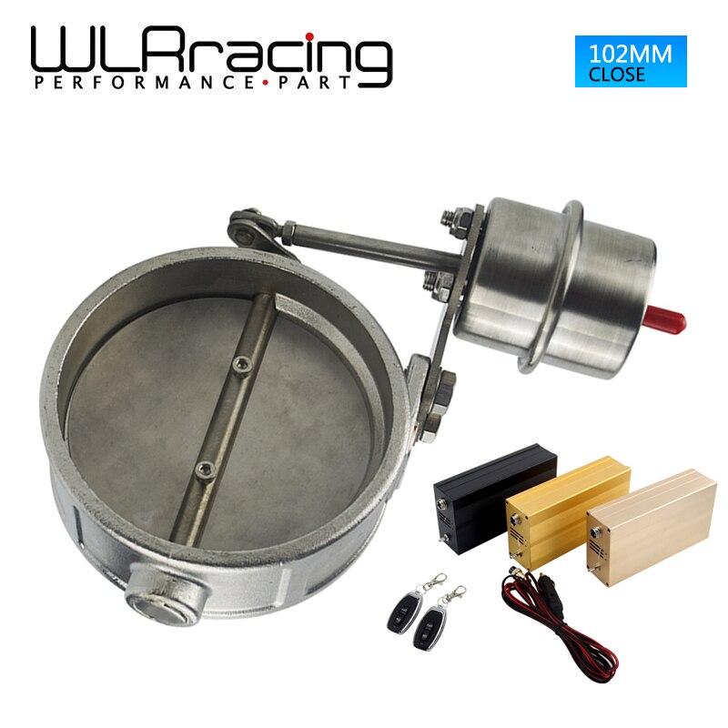WLRING магазин - новый вакуумный активированный выпускной вырез 4 102 мм закрыть стиль с беспроводной пульт дистанционного управления комплект типа wlr-ECV06+акк