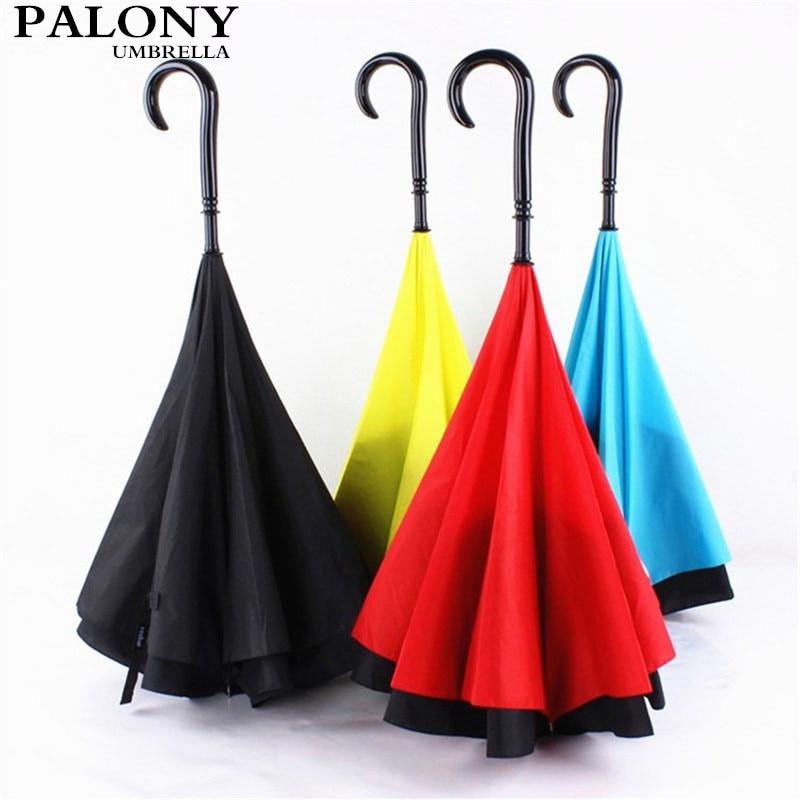 WunderschöNen Innovative Rückfahrscheinwerfer Umbrella Zwei-schicht Tuch Mit Vier Farben Ausgewählt Werden Kann Als Ein Schönes Geschenk 100% Garantie