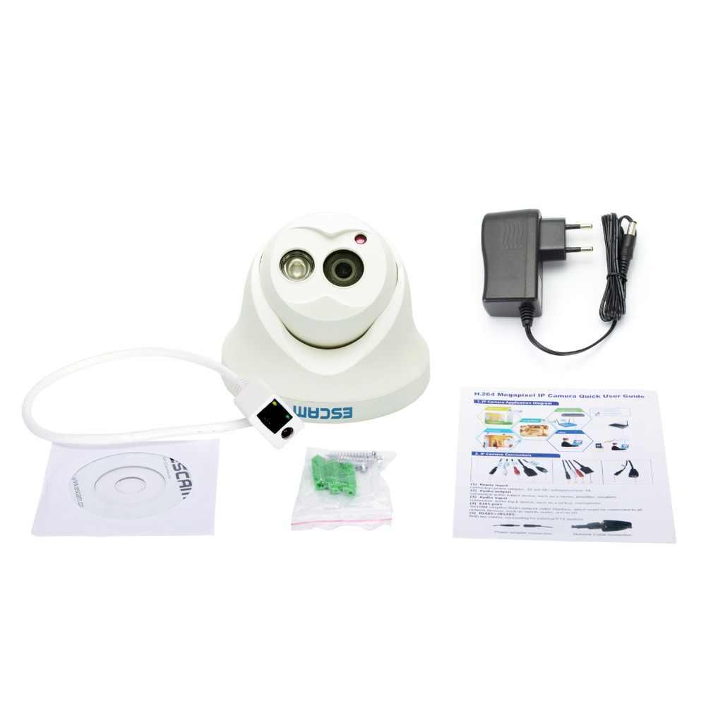 Escam Сова QD100 IP Камера ночное видение ONVIF 3,6 мм len HD 720 P H.264 1/4 CMOS P2P мини Камера ИК видеонаблюдения Камера