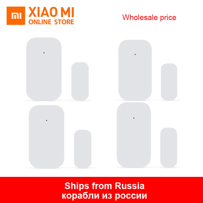 Bulk Xiaomi Aqara Door Window Sensor Zigbee Wireless Connection Smart Mini door sensor Work With Mi App For Android IOS Phone image