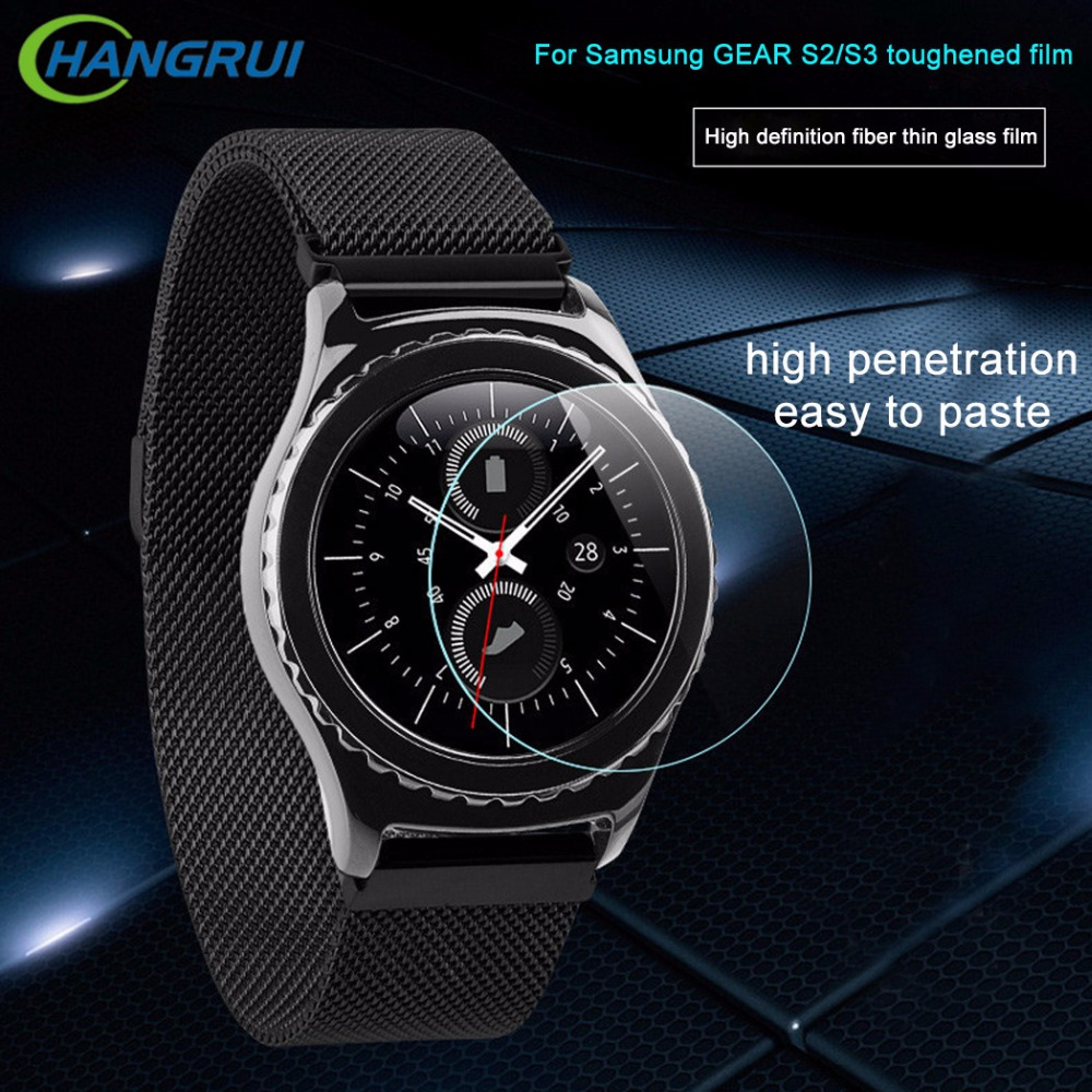 HANGRUI HD Ultrathin Tempered Glass Film For Samsung Gear S3 Classic / Frontier Smart Watch Screen Protector for Samsung Gear S2
