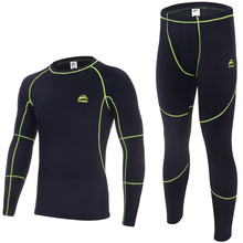 VEOBIKE Men's Autumn and Winter Fleece Thermal Underwear Outdoor Sports Cycling Bese Layer Clothing Set Free Shipping
