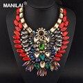 En todo el mundo Popular de Venta de Lujo Gargantillas de Cristal Nuevo Diseño Del Búho Joyería de Las Mujeres Collar Declaración Collares #2539