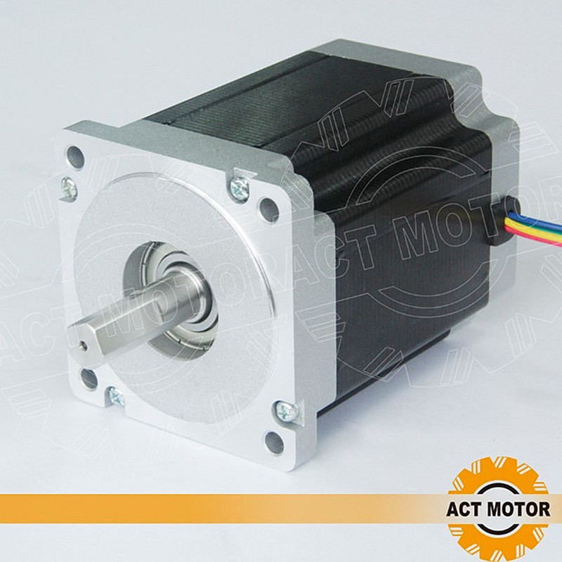 ACT Motor 1PC Nema34 Stepper Motor 34HS1456 Single Shaft 4-Lead 1232oz-in 118mm 5.6A Bipolar CE ISO ROHS Engraving Machine shipping from china act motor 1pc nema34 brake motor 34hs5460d14l34j5 s8 1140oz in 150mm 6a 4 lead 2phase engraving machine