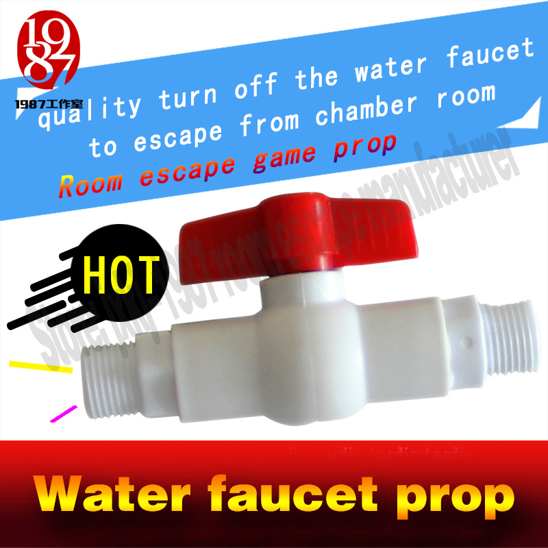 ФОТО room escape game prop  water faucet prop  close or Turn off the unreal beeping taps or water gate to unlock escape secret room