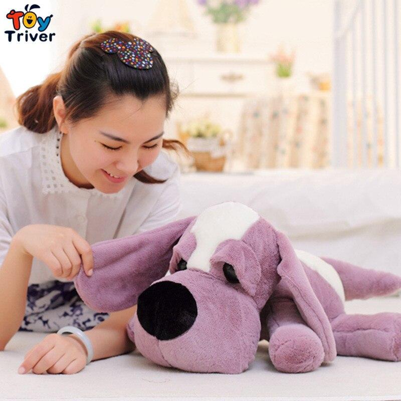 Cute Plush Lies prone big eye dog toys stuffed animal doll kids baby dog lover friend birthday christmas gift present home shop