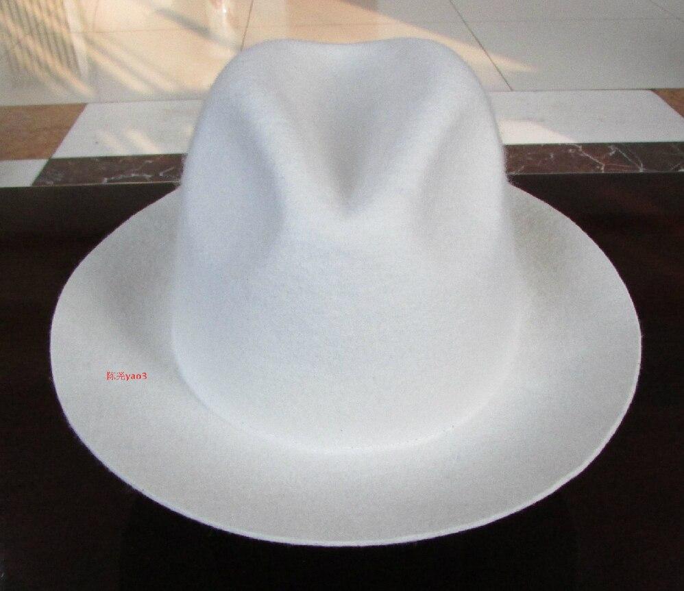 BIGBANG GD white wool fedora hats for men and women fashion 2015 new  arrival brand chapeu 9eae408ecae
