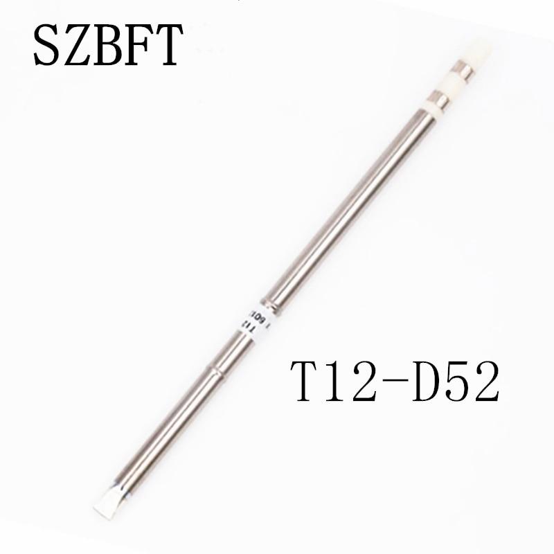 1 قطعه SZBFT برای ایستگاه لحیم کاری Hakko t12 T12-D52 آهن آلات لحیم کاری برقی نکات مربوط به ایستگاه FX-950 / FX-951