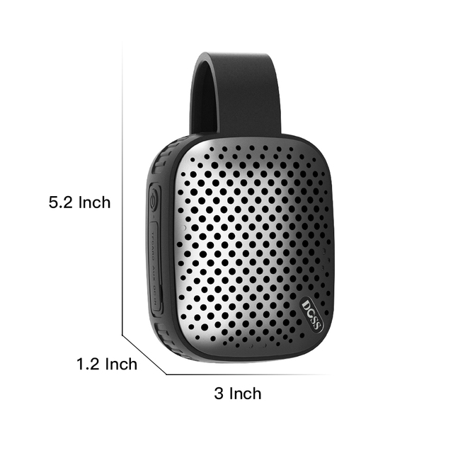 geekoplanet.com - Mini Portable Wireless Waterproof Bluetooth Stereo Speaker With Traveler Hook