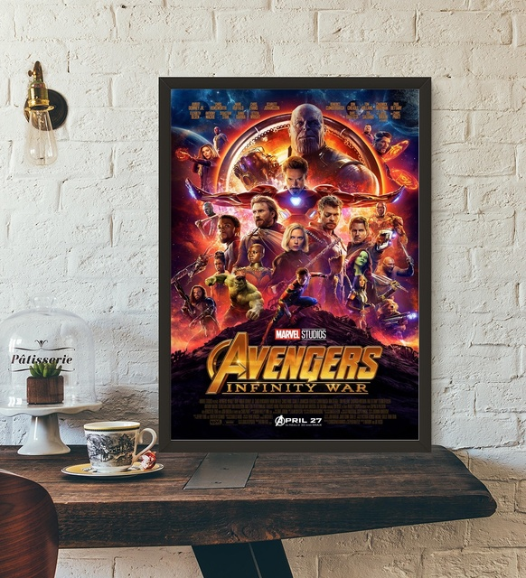 Avengers Infinity War Movie Poster Wall Art Wall Decor Silk Prints Art Poster Paintings For Living & Avengers Infinity War Movie Poster Wall Art Wall Decor Silk Prints ...