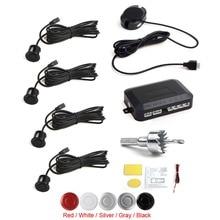 Brand New 3PCS 4 Sensors Buzzer Car Parking Sensor System with Audible Alarm / Waterproof, Back Car Assistant