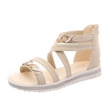 26b01968ab9 Sapatas da mulher chinelos sandálias meninas Plana Mulheres Sapatos de Verão  Sandálias de Couro Macio Lazer