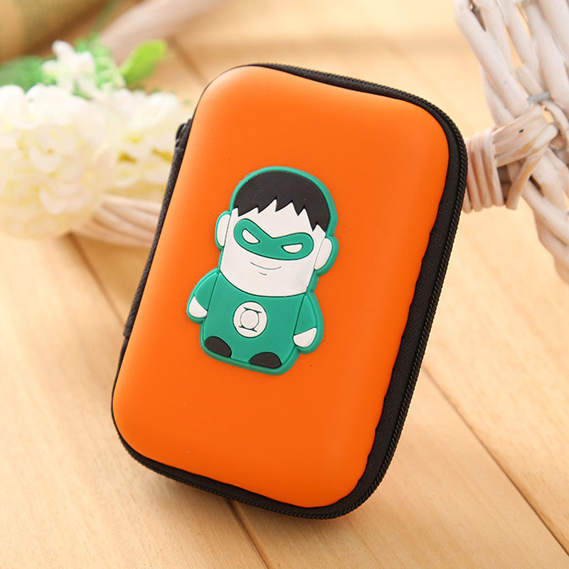 Green Lanter Silicone Coin Purse Anime Hero Coins Keys Wallets EVA Zipper Headset Package Boxes Bags Pouch Kids Gift Wallet novely silicone zipper coin wallets superman heroes mini storage organizer purse creative key package waterproof headset bags