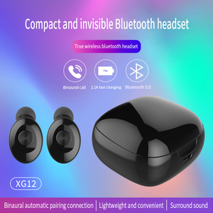 Image 3 - XG12 TWS Mini Bluetooth 5.0 Earphone Stereo Bass Earbuds Portable Wireless Earphones With charging box for Huawei iPhone Samsung