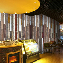 3d Wood Color Custom Personalized Letters Large Mural 3D Wallpaper Stripes American Restaurants Living Room Cafe