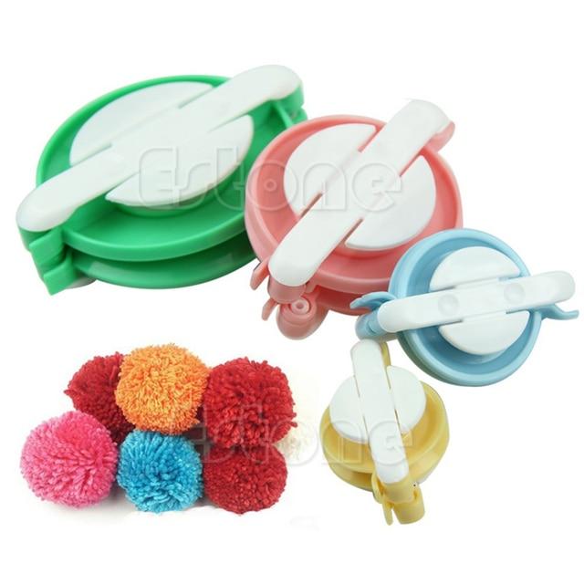 pompon set appareil bommel pom pom maker clover fluff ball. Black Bedroom Furniture Sets. Home Design Ideas