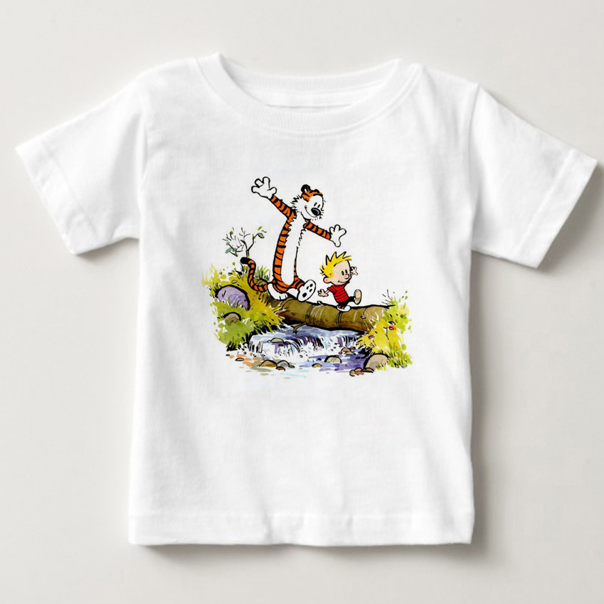 Calvin and Hobbes Lord Crowd Roy Moss new t shirt children cotton Short sleeve fashion summer printing Casual o-neck MJ
