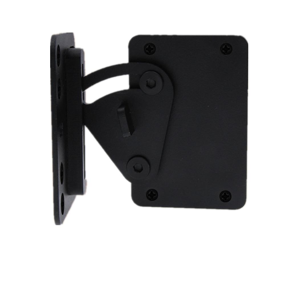 LWZH Black Carbon Steel Sliding Wood Latch Gate Lock Privacy Lock for Sliding Barn Door, Pocket Doors Garage and Shed Wood Gates