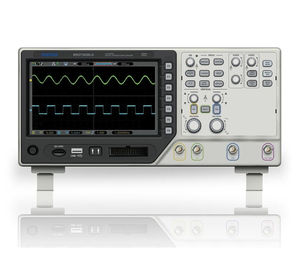 Hantek MSO7202BLG 3 IN 1 Digital Storage Oscilloscope + 25MHz Function signal generator +8CH Logic Analyzer 2CH 2Gsa/s 200MHz  hantek idso1070a 2ch 70mhz digital oscilloscope iphone ipad android windows oscilloscope wifi communication