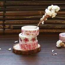 8 pcs Japanese flower masking tapes Sakura washi style stickers Stationery Office School supplies FJ014