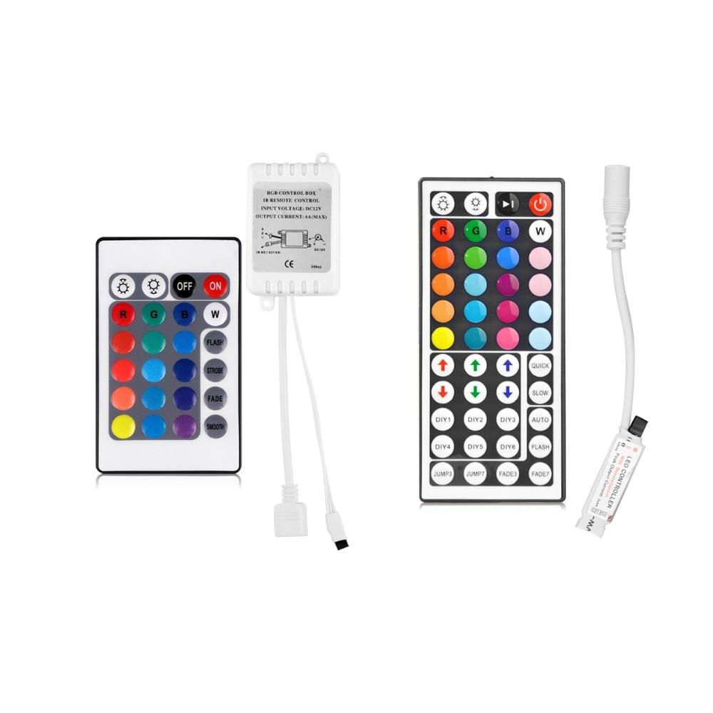 Светодиодный RGB пульт дистанционного управления для детей возрастом от 12V светодиодный полосы светильник Беспроводной пульт дистанционного управления для SMD 2835 5050 RGB светодиодный контроллер полосы