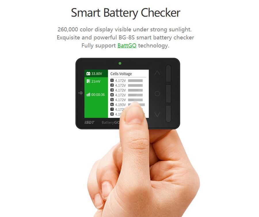 bateria balanceador receptor sinal tester função carga rápida