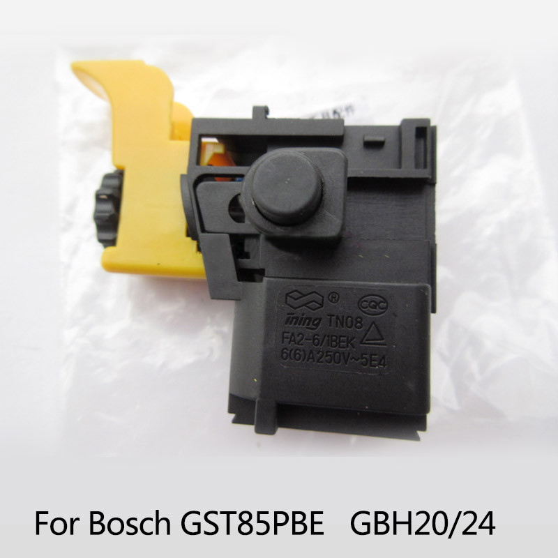 Free shipping! Electric hammer Drill Speed Control Switch for Bosch GBH2-20/GBH2-24 GST85PBE ,Power Tool Accessories carbon brush plate holder for bosch gbh2 26dfr gsb16re gsb19 2re gsb19 2rea hd21 2 gbh2 23re 11250vsrd gbh2 24d gbh2 26f