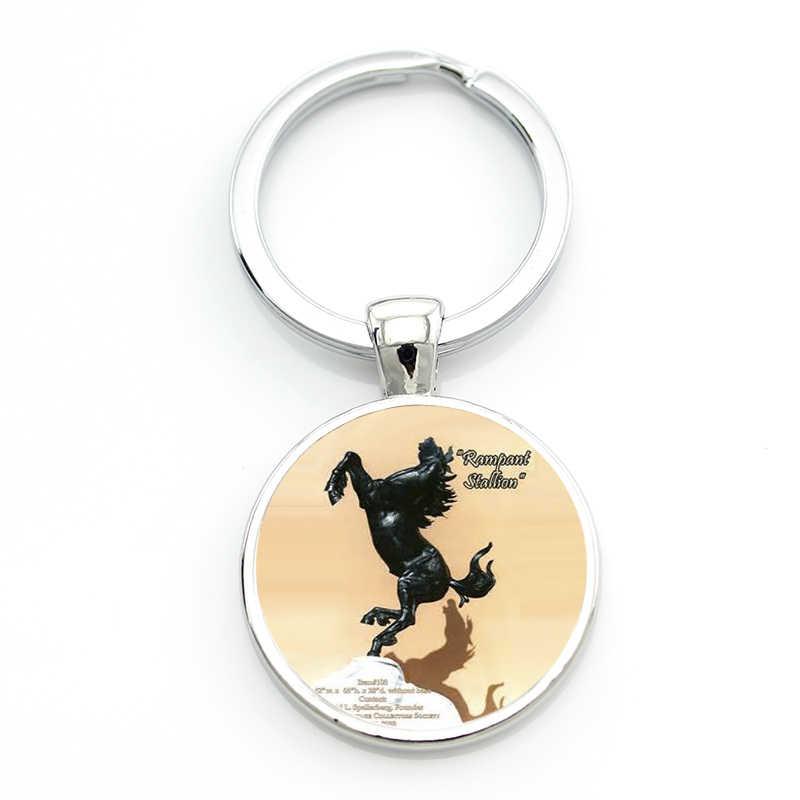 TAFREE العلامة التجارية أحب ترويض ركوب المفاتيح الأزياء النساء الرجال الحصان الانتقال الفروسية الرياضة نمط مفتاح سلسلة خاتم SP531