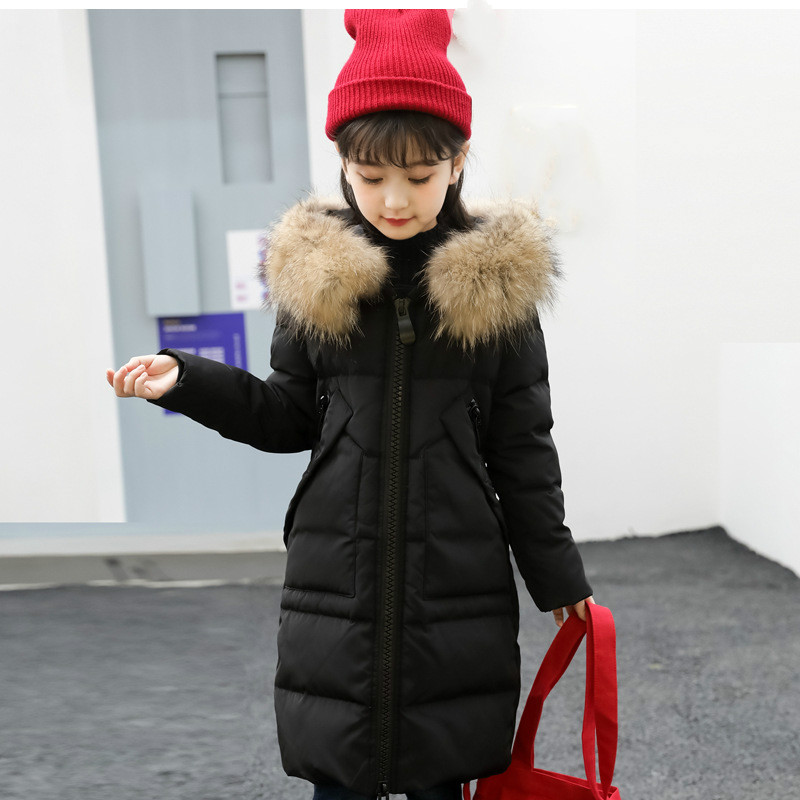 2018 New Children's Feather Girls 'Long Thick Korean version of Winter Girls' Wear thick-top jacket Winter warm down jacket 2018 new children s feather girls long thick korean version of winter girls wear thick top jacket winter warm down jacket