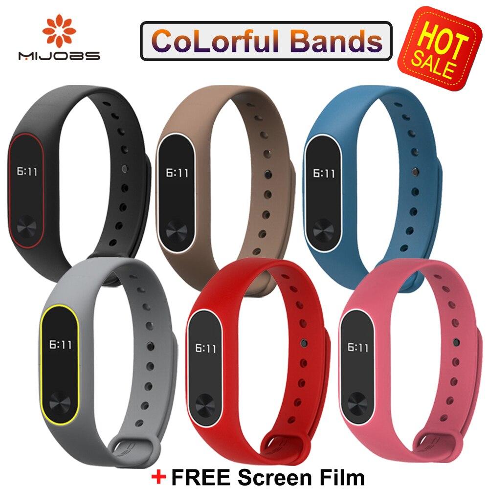 Original Mijobs Mi Band Straps Bracelet For Xiaomi Mi Band Wristband Strap