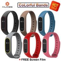 Original Mijobs Mi Band 2 Straps Bracelet For Xiaomi Mi Band 2 Wristband Strap Replacement Colorful Silicone Accessories