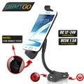 Универсальный автомобильный держатель телефона usb зарядное устройство легче транспортное средство стенд для Samsung Galaxy S2 S3 S4 S5 S6 Lenovo P6