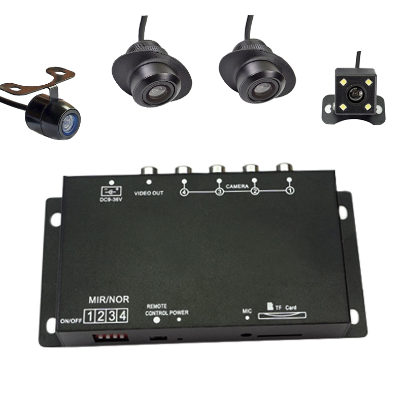 Car Four Cameras Image Switch Combiner Box for Front Rear and specail side view Parking font