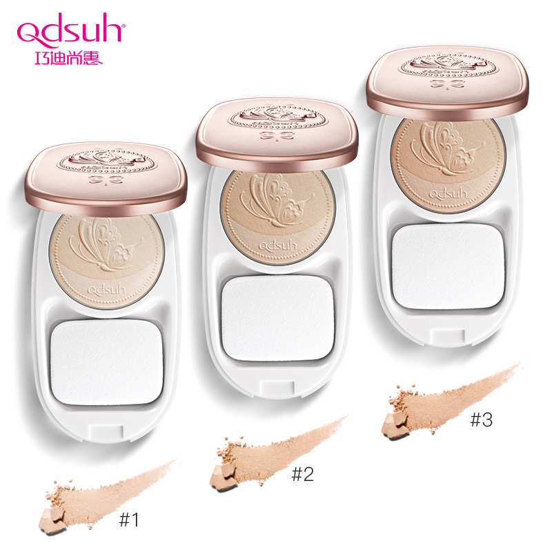 Qdsuh Butterfly Love Brightening Compact Powder Pressed Foundation Concealer Makeup Contour Palette Highlighter Base Primer 3d 1pcs pro round top makeup brush cosmetic loose powder foundation compact powder blusher contour highlighter beauty tool