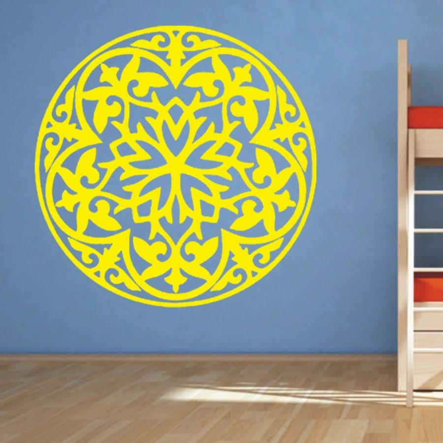 Flower Wall Decal Vinyl Stickers Art Decor Mandala Menhdi Om Indian ...