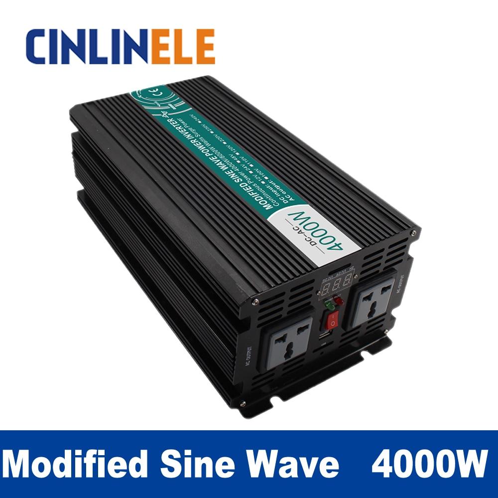 Modified Sine Wave Inverter 4000W CLM4000A DC 12V  24V 48V to AC 110V 220V 4000W Surge Power 8000W Power Inverter 12V 110V
