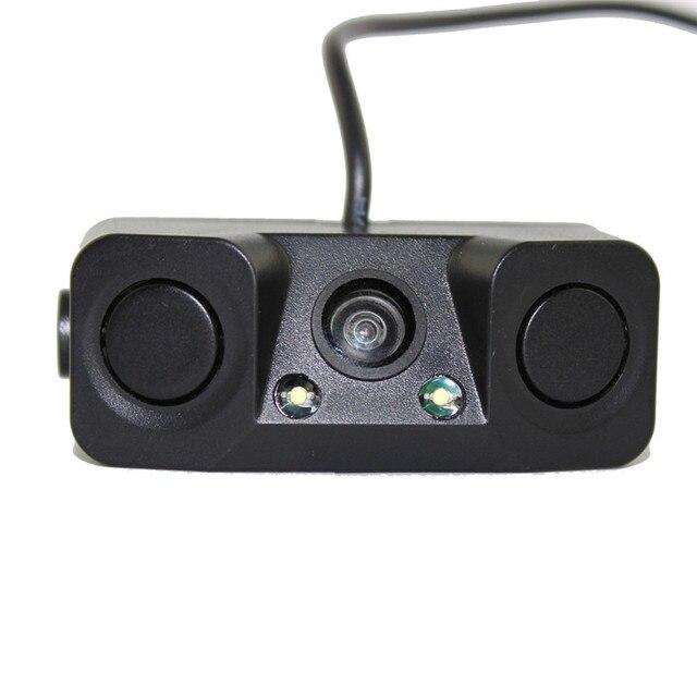Водонепроницаемый Super Tough Ночного Видения монитор камеры с 2 LED Вид Сзади автомобиля Камера Заднего Вида + Датчик Парковки 2 декабря 26