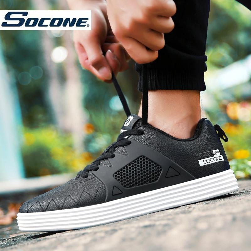 Prix pour SOCONE Marque Hommes de Planche À Roulettes Chaussures Lacent Sneakers pour Hommes avec Tige Basse Plat Chaussures de Haute Qualité Hommes Sport Chaussures 9855