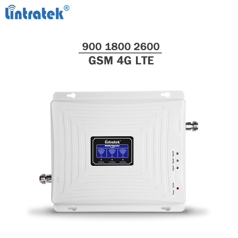 Lintratek NEW 4G Repeater 1800 4G 2600 Booster GSM 900 GSM 1800 Tri Band 900 1800 2600 Signal Repeater Amplifier 2G LTE #6
